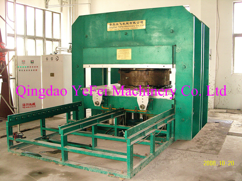 Bridge damping bearing vulcaning machine