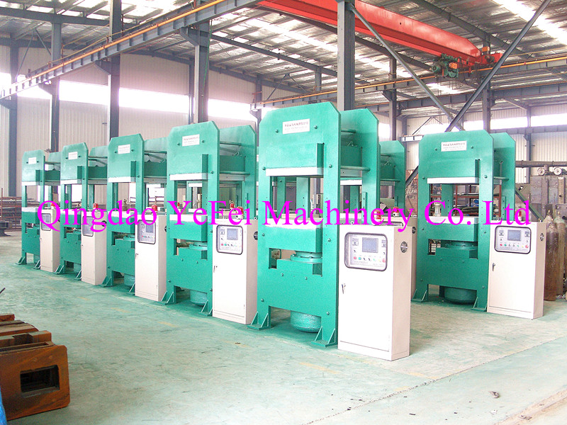 Frame type plate vulcanization unit