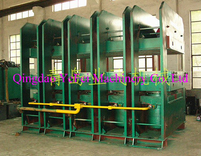 Wire rope conveyor belt vulcanizing machine