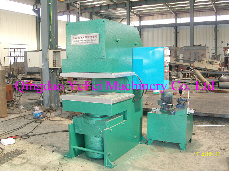 Jaw type vulcanizing machine